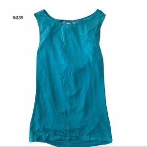 UNITED COLORS OF BENETTON turquoise tank top